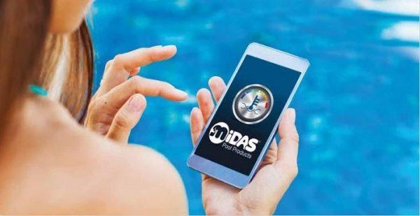 Bạn có thể vận hành, thay đổi nhiệt độ nước của máy quan ứng dụng điện thoại riêng của hãng MIDAS