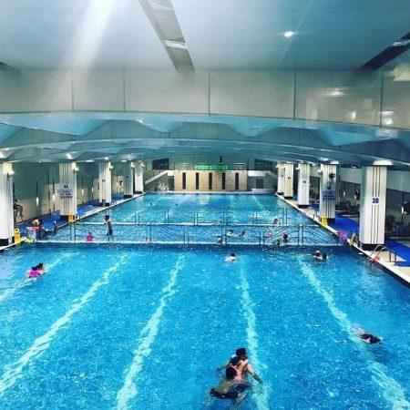 Một công trình hồ bơi công cộng được Khương Thịnh thi công