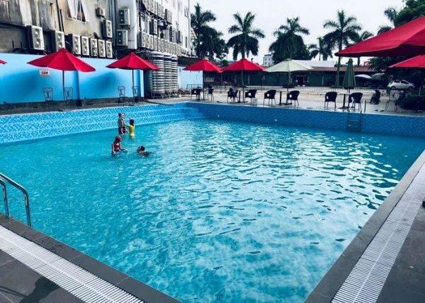 Công trình bể bơi hoàn thiện theo thiết kế của kỹ sư tại Khương Thịnh