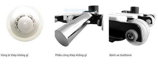 Từng chi tiết trong sản phẩm được lắp ráp thông minh với các chất liệu cao cấp