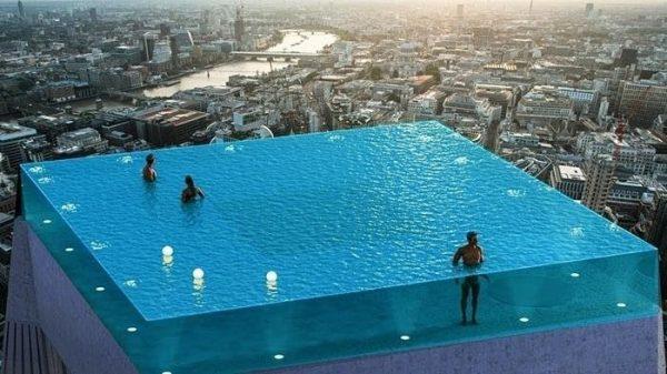Một công trình bể bơi độc đáo được Khương Thịnh thi công