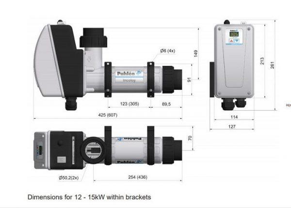 Kích thước chi tiết của sản phẩm máy sưởi điện 913