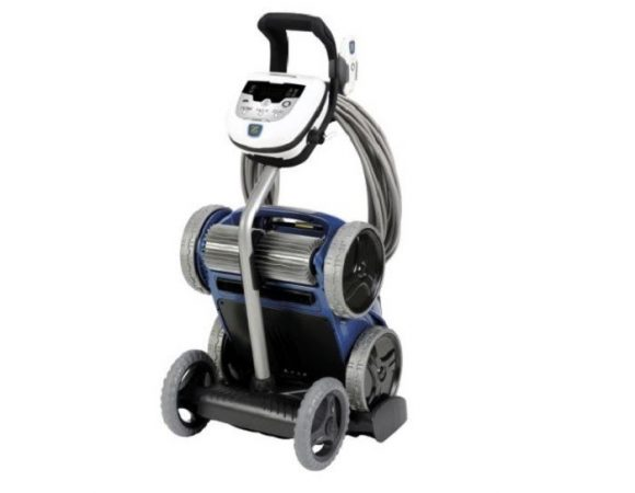 Sản phẩm khi mua tại Khương Thịnh được cung cấp đầy đủ với xe đẩy vận chuyển, bộ điều khiển, bàn chải và hộp lọc.