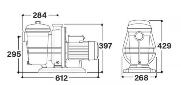 Hình ảnh mô phỏng sản phẩm Bơm Typhoon Davey