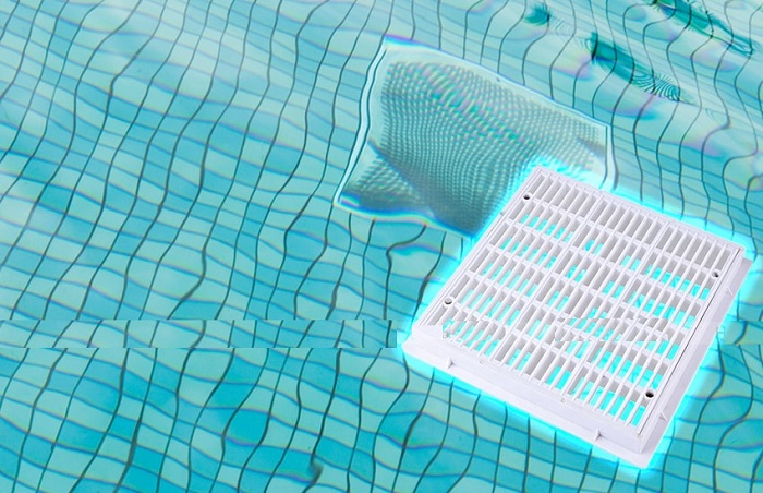 Nắp thu đáy vuông bể bơi Emaux EM2812 chính hãng