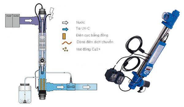 Hình ảnh chi tiết mẫu đèn UV khử khuẩn bể bơi Midas model 204