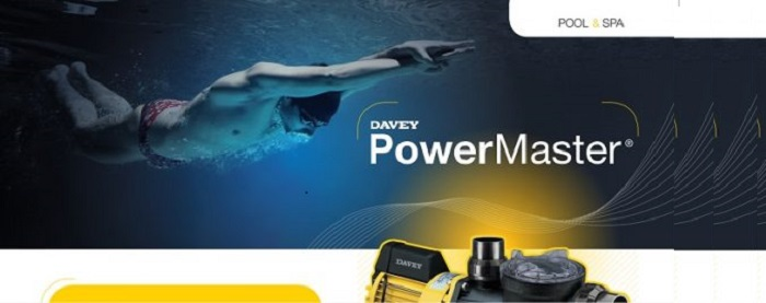 Máy bơm lọc hồ bơi massage Davey